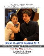 Naoko Nakagawa (sop.) and Satoshi Kanazawa (p)